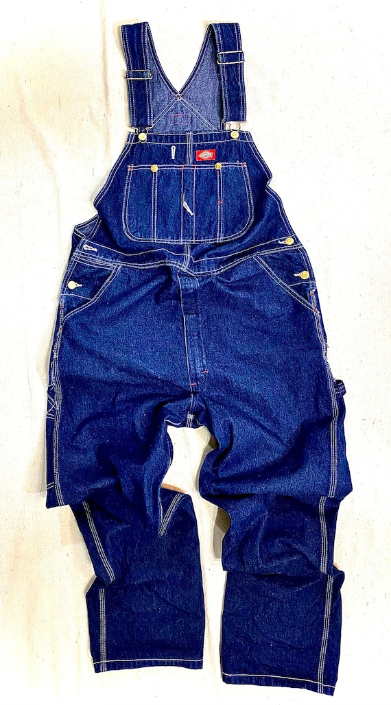 1980s vintage dickies navy blue overalls coveralls