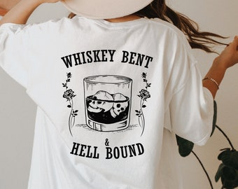 Whiskey Bent & Hellbound T- Shirt Hank Williams Jr, Country Music T-Shirt, Vintage Inspired Cotton T-shirt, Unisex Tee, Comfort Colors Tee