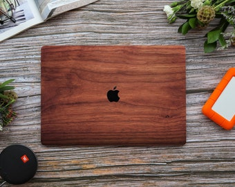 Chestnut Wood Emulation Macbook case Wood Texture Plastic Skin, Hard shell for Apple Macbook 2020 Pro 13 A2251 A2289 15 16 Touch Bar A2141