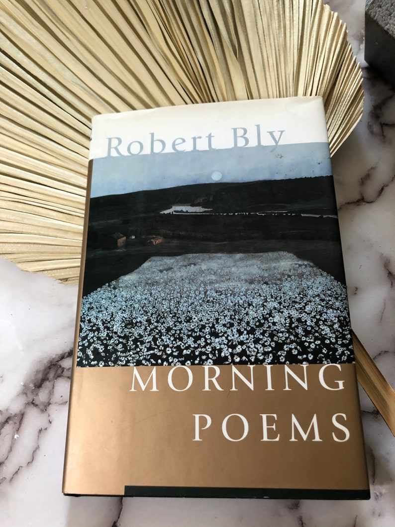 Morning Poems Robert Bly First Edition image 0