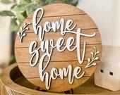 Home Sweet Home, Laser Cut File, Wood Sign SVG for Glowforge and Lasers, Home Sweet Home SVG, Glowforge svg, Shiplap Sign