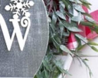 Christmas Glowforge Svg, Let It Snow Svg, Snowflake Svg, Christmas Welcome Sign Svg, Door Hanger Svg, Round Sign Svg, Laser Cut File