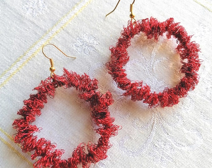 Christmas crochet earrings