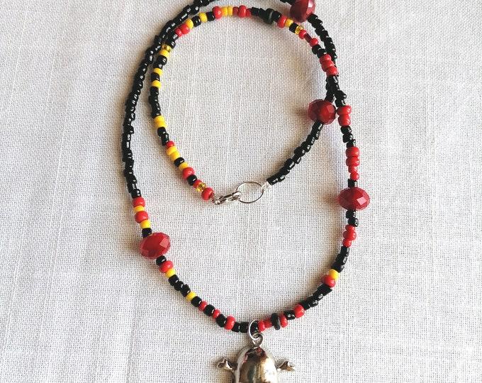 Skull black necklace