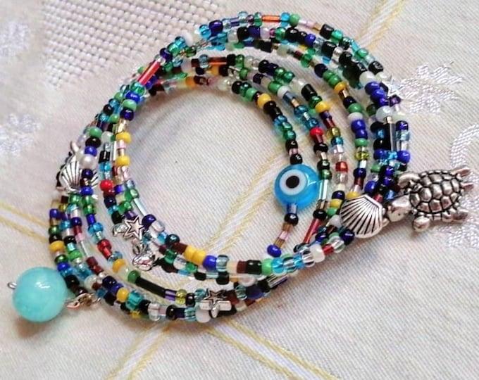 Multistrand summer bracelet