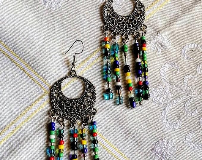 Βοho colorful earrings