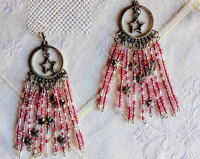 Funky star earrings
