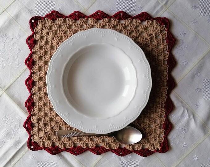 Crochet platemats