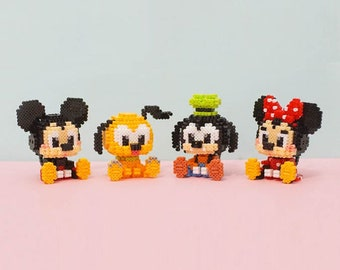 DIY Disney Mickey & Minnie Mouse 3D Perler Pattern Tutorial