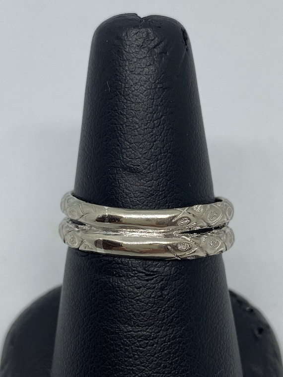 Sterling Silver Snake Ring With Ruby Eyes - image 4