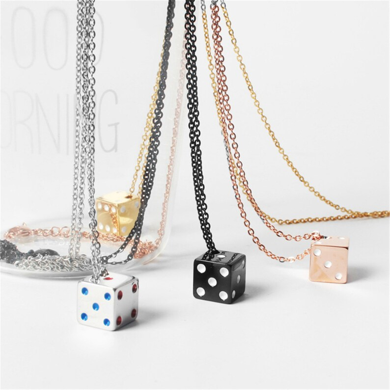 Dice gold plated Necklace cute dice Bunco Club Gift Dainty NecklaceDelicate gift Mothers Day Gift Best Friend Gift Sister Gift bride gift