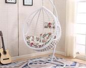 Hanging basket rattan chair household hanging chair indoor cradle chair leisure rocking chair floor hammock balcony