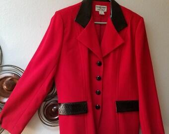 New vintage 1980/'s shirt jacket ruffle hem riding gothic 80/'s coat Together