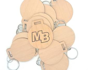 Custom Engrave NFC Wood Keychain