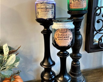 Hunted Mansion Inspired Candle Jar
