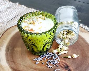 Good Mood Soy Candle in Vintage Glass Votive - Set of 2