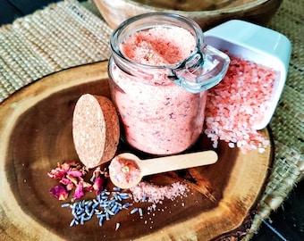 Pink Chamomile Rose Bath Salts and Foot Bath