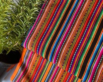 "Peruvian Fabric/ceremonial/Peruvian Cotton/ 1 Yard /Artisan Aguayo /Hand Loomed/ 48"" Wide/Fair Trade/altar cloth/Ancient/Peru"