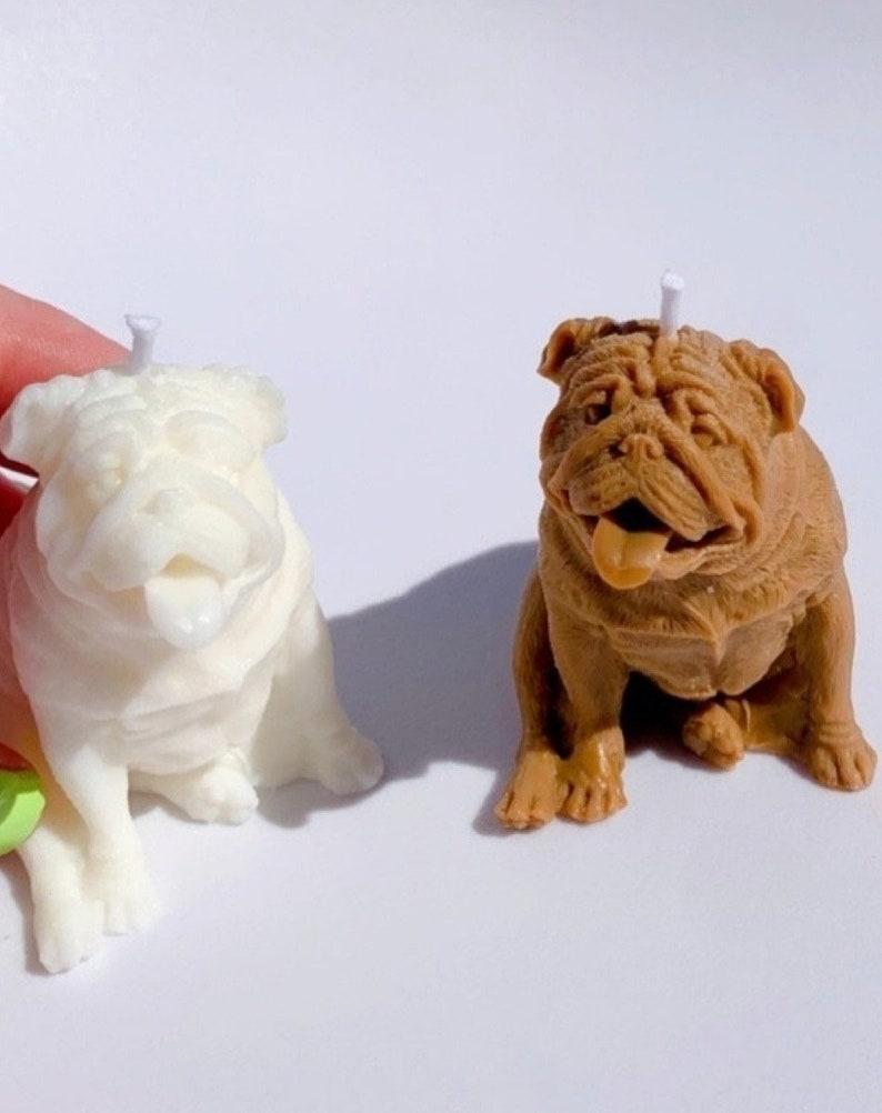 English Bulldog Candle Soy Wax Candle Pet Lovers Dog image 0