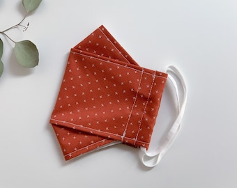 Burnt Orange KF94 Face Mask - Washable and Reusable - 100% Cotton Face Covering