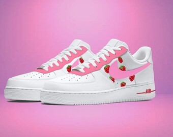 Pink strawberry Air Force 1s