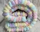 Pompom Baby Blanket - Girly Pastel Mix