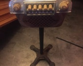 1940 s Master car radio mounted on cast iron stand