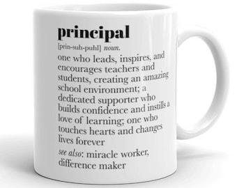 Principal Gift, Principal Mug, Principal Appreciation Gift, Principal Retirement Gift, Teacher Appreciation Week, Principal Thank You Gift