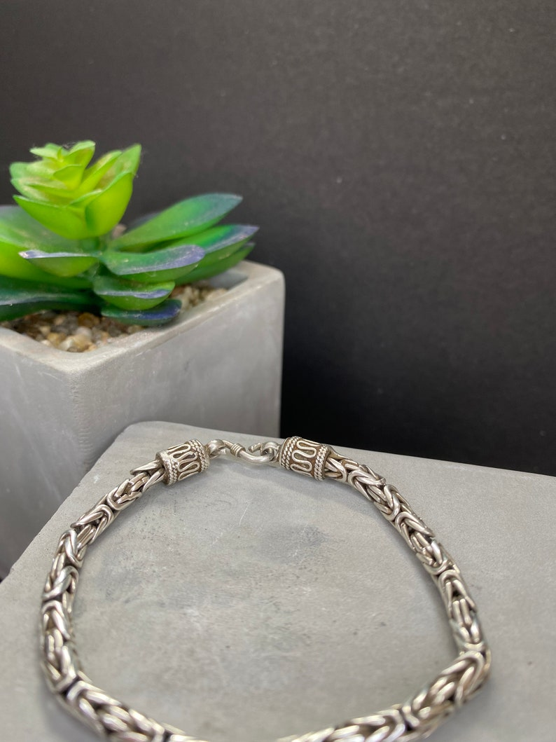 Sterling Silver Bracelet 7.5 Inches Long