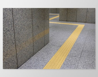 PATH – Photo Print, Minimalist Photography, Urban Scenes, Interiors, Yellow, Minimalist Condo Decor, 8x10