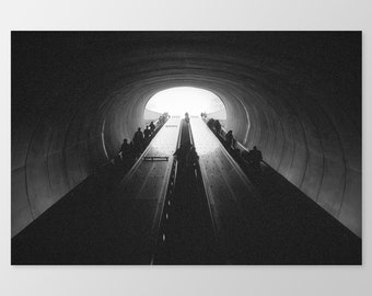 EXIT – Subway Architecture, Photo Print, Black & White Photography, Fine Art Photography, Maryland