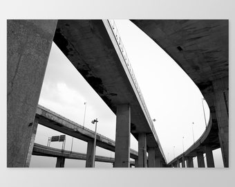 TURCOT #2 – Urban Infrastructure, Photo Print, Montreal, Concrete, Highway, Office Decor
