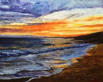 Decorative Impressionist Oil Mural Gwendrez Beach - Plouhinec (29)