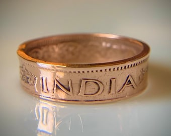 Indian Jewelry Size 8.5 Indian Coin Ring Tribal Coin Ring Ethnic Coin Ring Indian Coin Jewelry Indian Tribal Ring