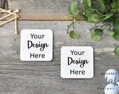 Father 39 s Day Barnwood Golf Square Coasters Mock-up Mockup, Digital download Barn Wood Background with Golf Balls Golf Tees Coaster Set