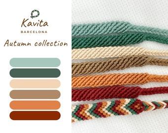 Autumn bracelets collection, friendship autumn bracelets, autumn bracelets, friendship bracelets, flat autumn bracelets