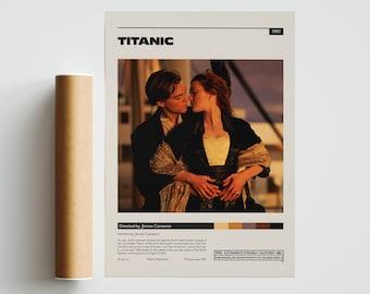 Titanic Romantic Movie Bw Photo Print On Framed Canvas Wall Art Home Decoration