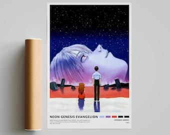 Neon Genesis Evangelion 24x16inch 1995 Classic Animation Silk Poster Decoration
