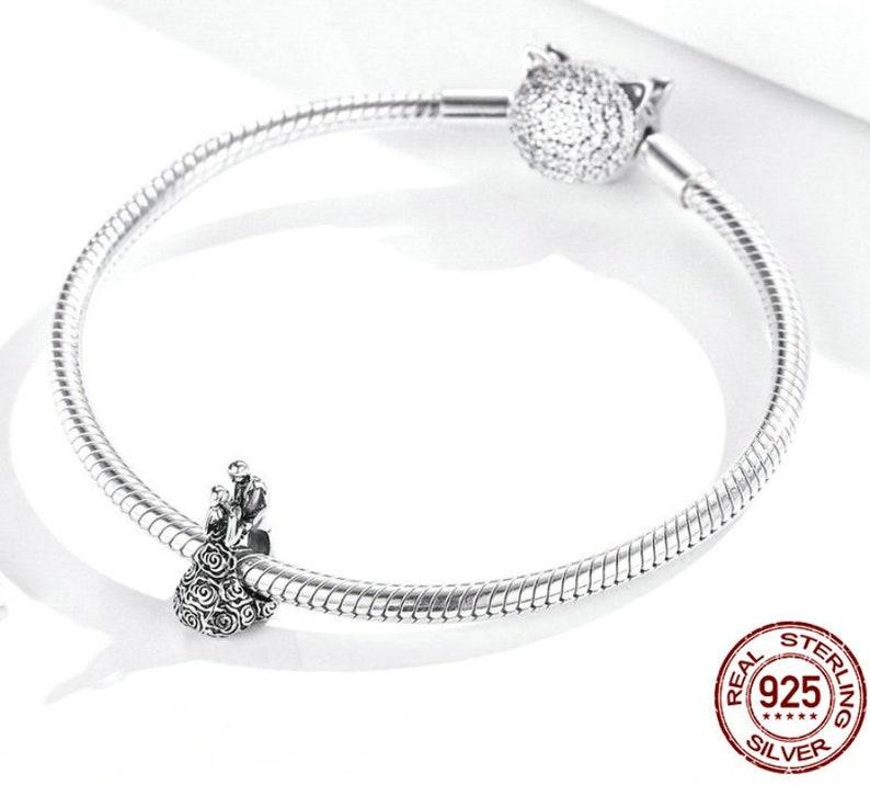 Wedding Bead Love Couple charms silver 925 beads Bracelet