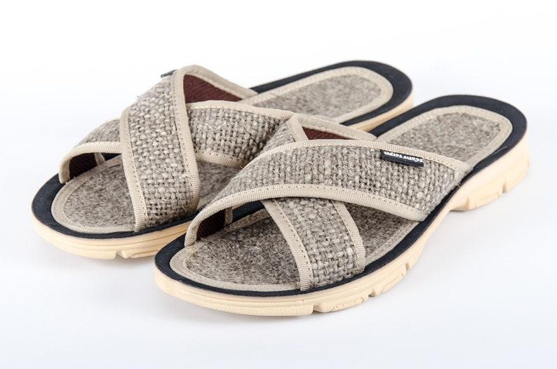 Hemp Slippers for Bath by Akkerman Shoes