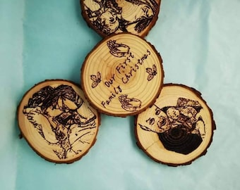 Family Christmas Coasters