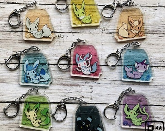 Teaveelution Acrylic Charm - Tea Bag with Flower Themed Creatures