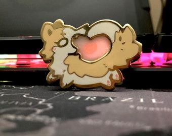 Flawed Heart Dog - 2in Hard Enamel Pin