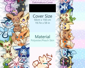 Cute Eeveelution Body Pillow Cover - Dakimakura