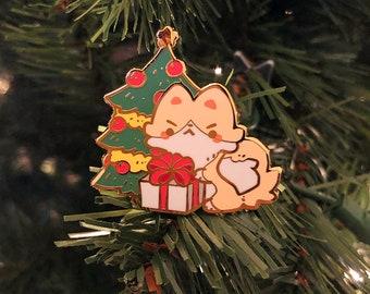 Original Holiday Dog Cat Flawed Hard Enamel Pin - Apuptato Mascot