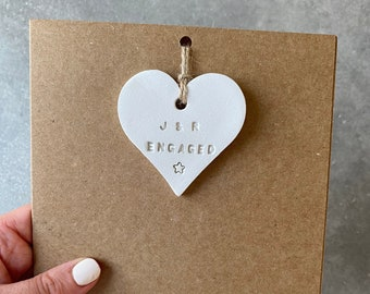 Personalised Engagement Card with Handmade Keepsake
