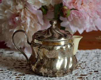 Art Deco, HKE, Cream caster/ milk jug, Bakelite, silver-plated, Hotel silver, Gift, Country style, Shabby chic, Decoration, Rare,