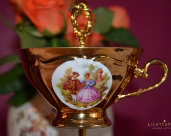 Hutschenreuther porcelain, love couple, high quality, gift, floor from collectible cups, 3 steps, Mother's Day, wedding, gilded