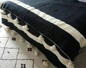 Hot Selling Wool Moroccan Pompom Blanket,Moroccan Throw Blanket,Throw Blanket,bedroom blanket,bedding blanket,blanket with tassels,gifts