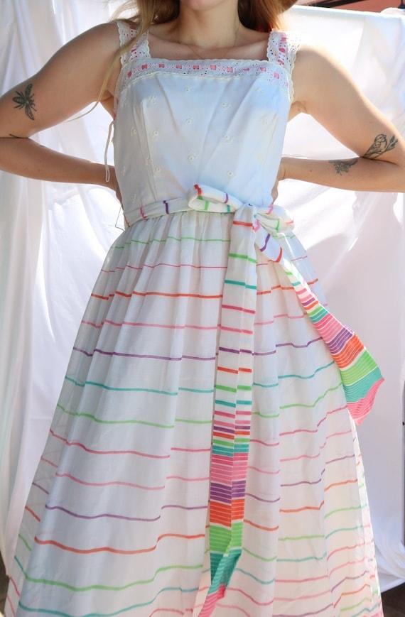 Vintage 70's Striped Dress